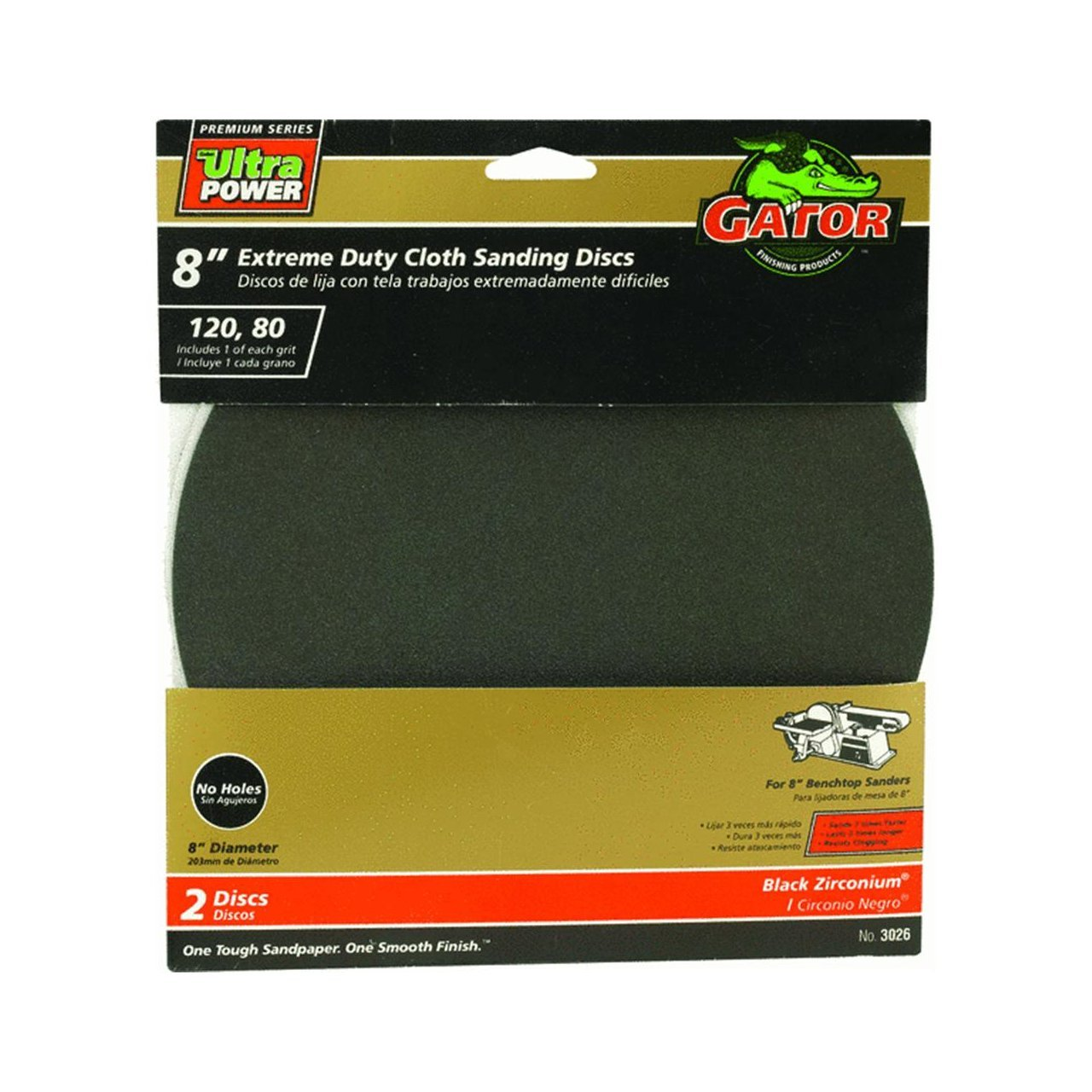 8 Extreme Duty Cloth Sanding Disc