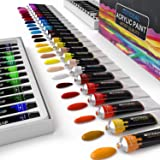 GOTIDEAL Acrylic Paint Set, Artist Grade 48 Colors/Tubes(23ml, 0.77 oz) Non Toxic Non Fading,Rich Pigments for Painters, Adul