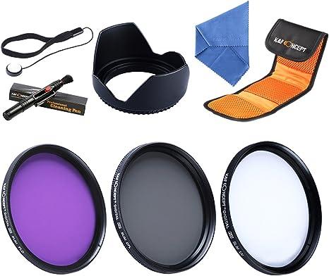 K&F Concept® Packs de Filtro Fotográfico 52mm UV CPL FLD Filtro Kit para Lentes Accesorios