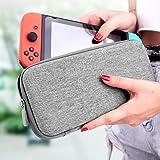 Nintendo Switch ケース 保護カバー EVA素材 耐衝撃 防水 防汚 10個ゲームカード収納バッグ 軽量 持ち運び便利 スイッチ ケース -グレー