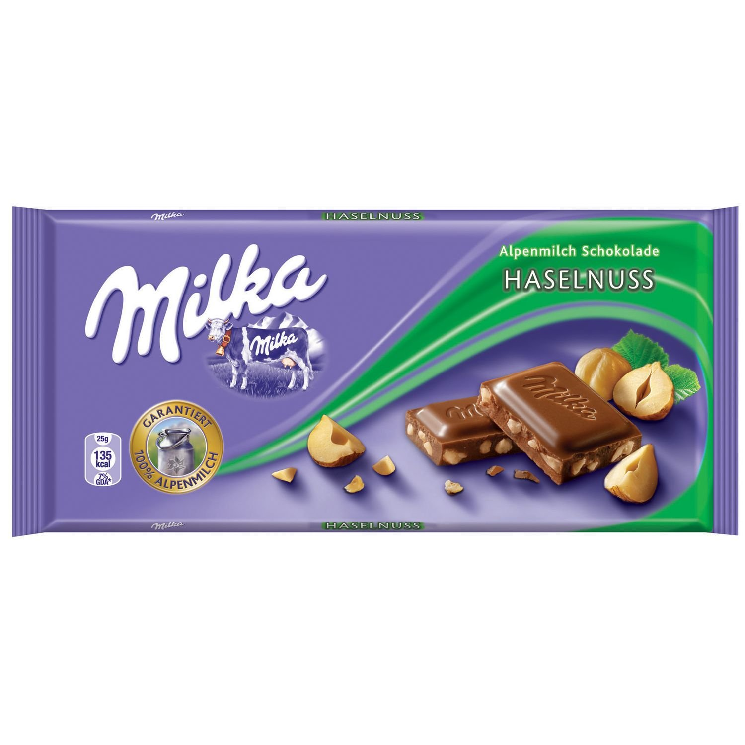 Milka Milk Chocolate Hazelnut, 3.52-ounce Bars (Pack of 10)