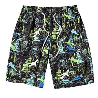 915f0ef016 Amazon.com: Fashion Men Swimwear Breathable Aircraft Print Swim Trunks for  Running Swimming: Clothing