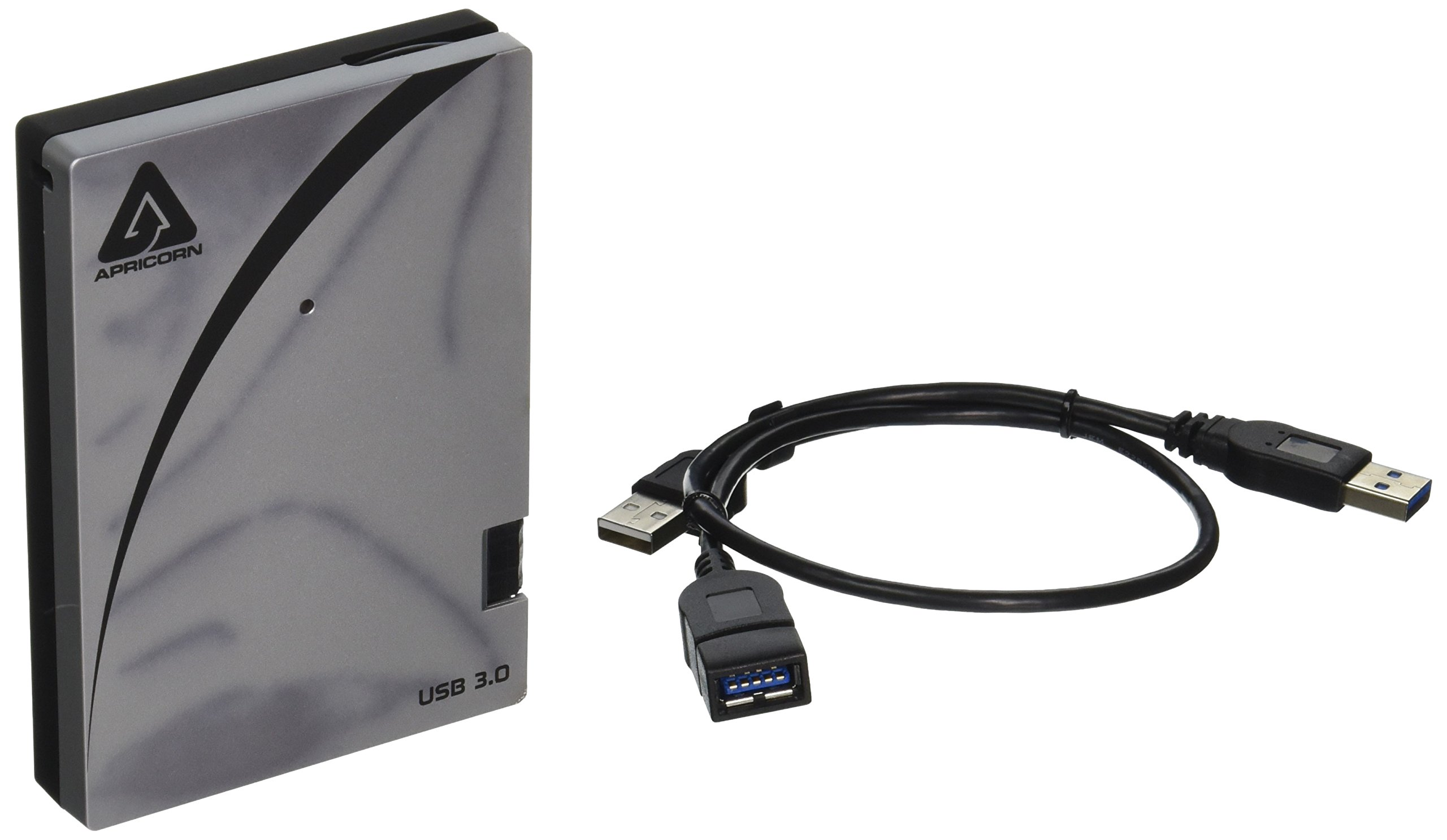 Apricorn Aegis Portable 3.0 USB 3.0 Portable 256GB SSD with Integrated USB Cable (A25-3USB-S256) by Apricorn