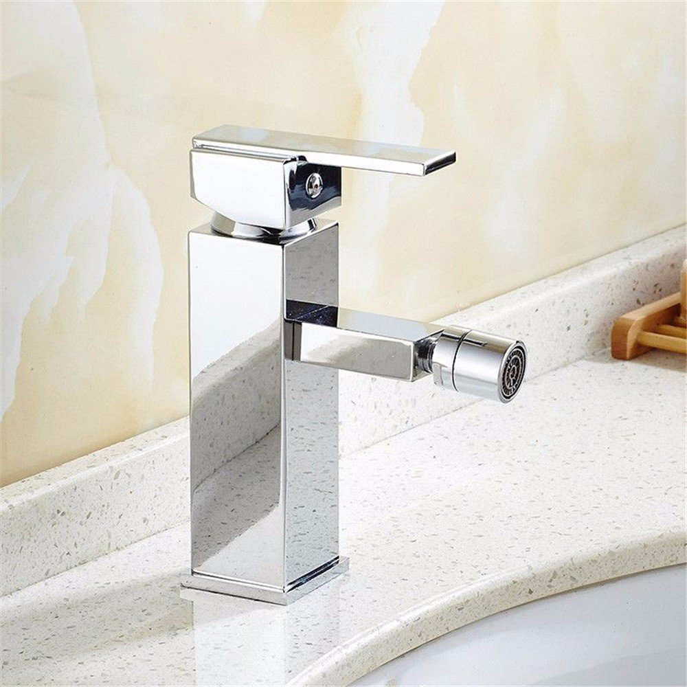 Bathroom Sink Faucet Basin//Mixer Tap/Basin Mixer Tap/Lavatory Faucets/Bathroom Sink Faucet/Sink Faucet Chrome Plated Silver Washbasin, Taps Bath, Washbasin Taps, Bidet Washer, Single Hole Taps by Sink Taps FUNUAN