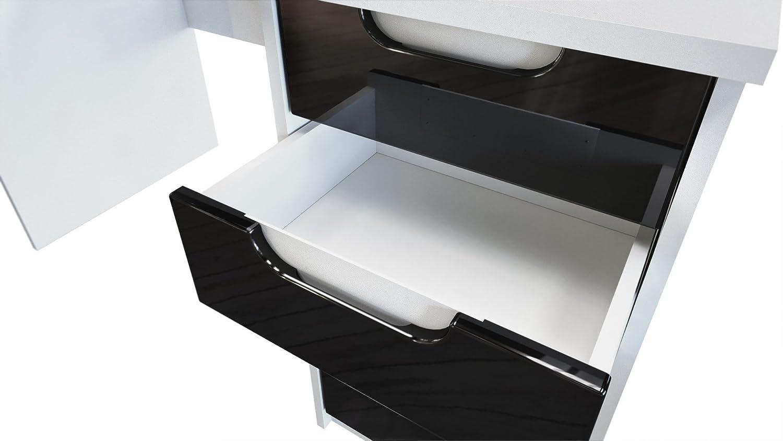 Conjunto de Muebles de Oficina Logan, Cuerpo en Blanco Mate/frentes en hormigón Oxidado: Vladon: Amazon.es: Hogar