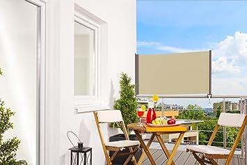Balkon Sonnenschutz amazon de senkrechtmarkise balkon markise up balkonmarkise uv