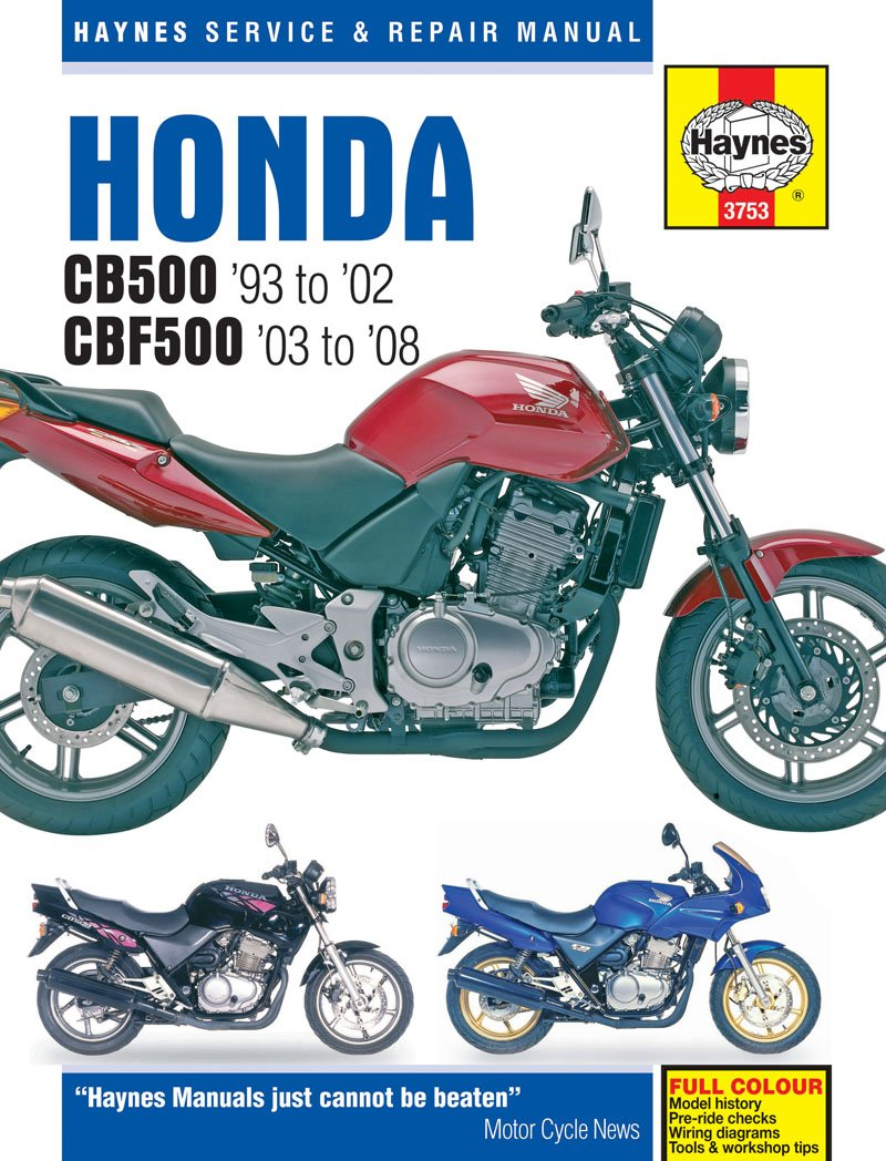 Honda CB CBF 500 Repair Manual Haynes Service Manual Workshop Manual 1993-2008 Haynes Publishing