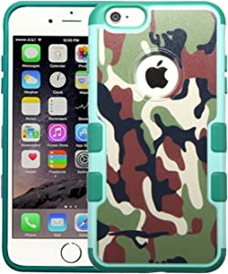 MyBat APPLE iPhone 6 Plus TUFF Merge Hybrid Protector Cover - Retail Packaging - Brown/Green