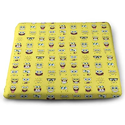MVSDISRY Outdoor/Indoor Square Corner Seat Cushions Spongebob Squarepants Chair Pad with Washable Cover: Home & Kitchen