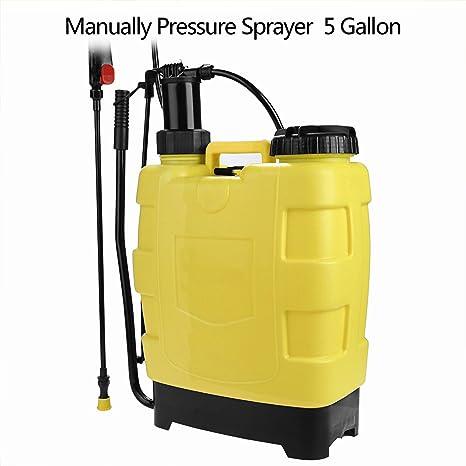 Voluker 20L Pulverizador con Mochila, Pulverizador jardin,Pulverizador a presión, Lanza con mango