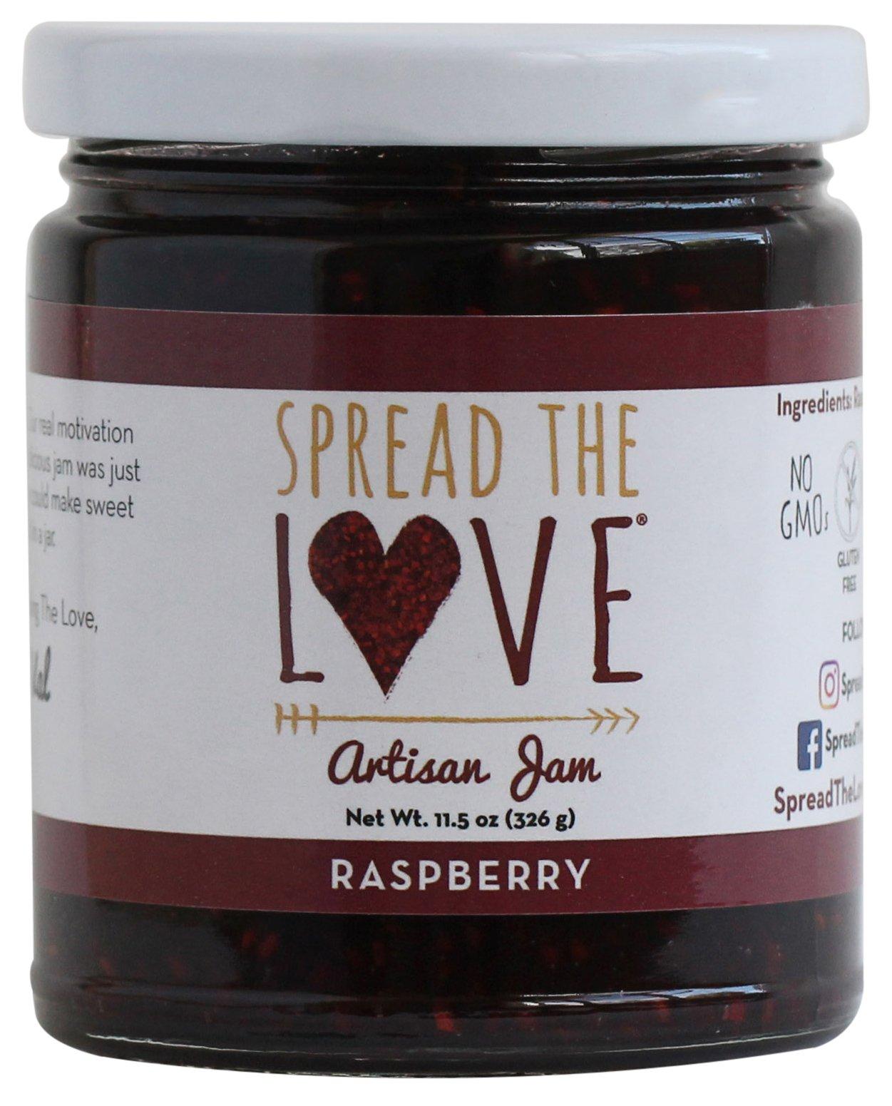 Spread The Love Artisan Jam, Raspberry (All Natural, Vegan, Gluten-free, No added salt, No pectin)
