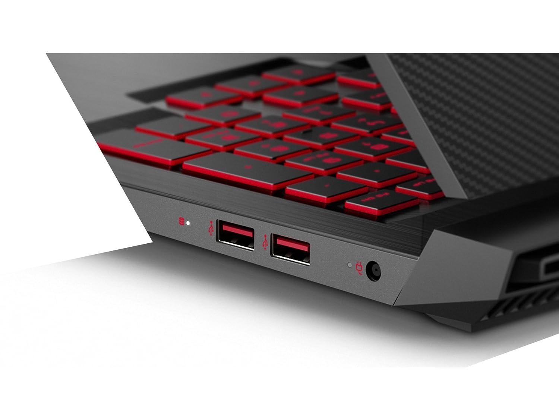 ; Negro Teclado QWERTY Espa/ñol Ordenador port/átil de 15.6 FHD HP Omen 15-ce015ns Intel Core i7-7700HQ, 12 GB RAM, 1 TB HDD, Nvidia GeForce GTX 1050 de 4 GB, Windows 10