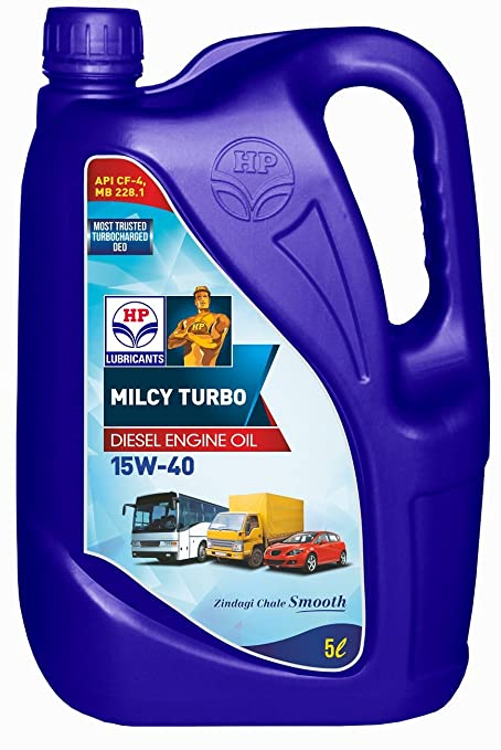HP Lubricants Milcy Turbo 15W-40 API CF4 Engine Oil for Cars (5 L)