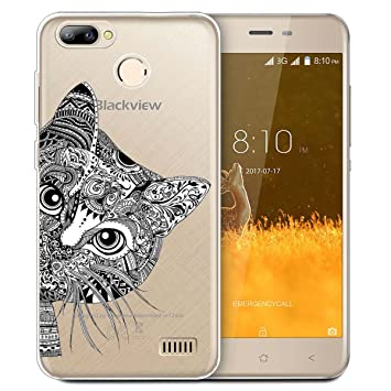 factory authentic 544c7 1b507 Blackview A7 Pro Case, ocketcase® TPU Soft Silicone Gel Back Cover Case  Transparent Shockproof Protective Shell Bumper for Blackview A7 Pro (Cat) +  ...