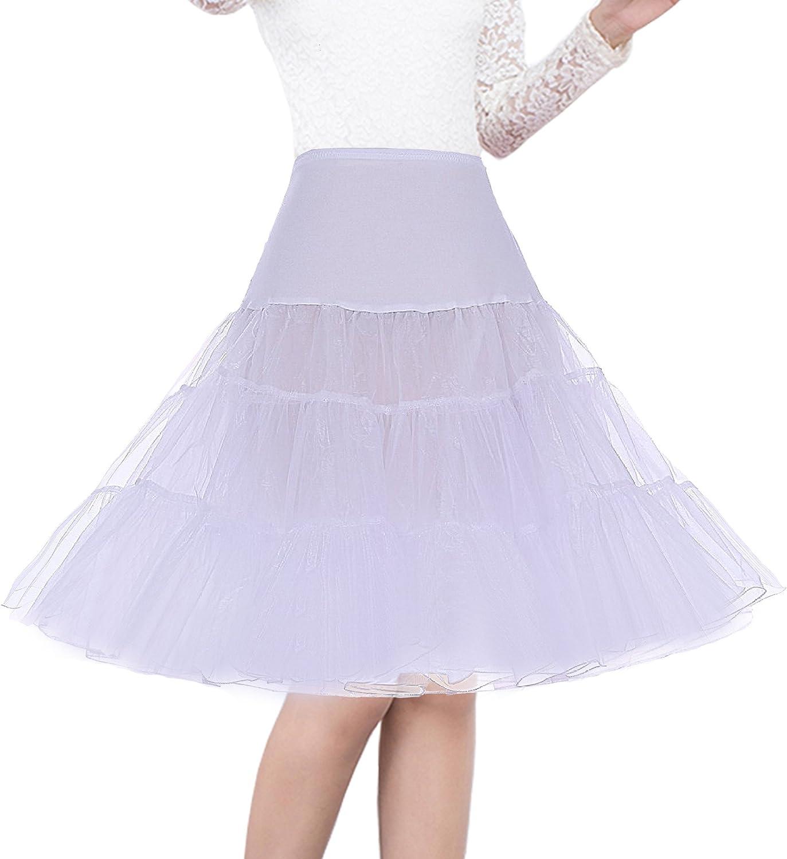 Shimaly Womens 50s Vintage Petticoat 26 Crinoline Rockabilly Tutu Skirt Slip S-3XL