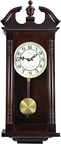 Bedford Clock Collection 27.5″ Classic Chiming Wall Clock