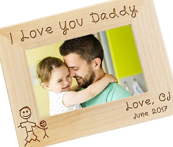 Amazon.com: Personalized I Love Daddy Picture Frame - Fathers Day ...