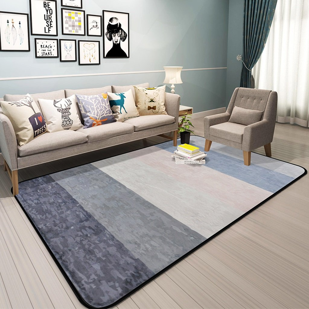 Hyun times Carpet Scandinavian geometric pattern living room simple modern bedroom full shop coffee table sofa home bedside mats ( Color : C , Size : 120180cm )