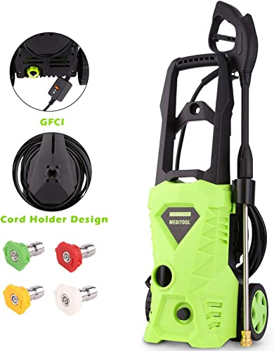 Homdox 2600 PSI Pressure Washer Electric Power Washer 1600W 1.6GPM Powered Cleaner Machine