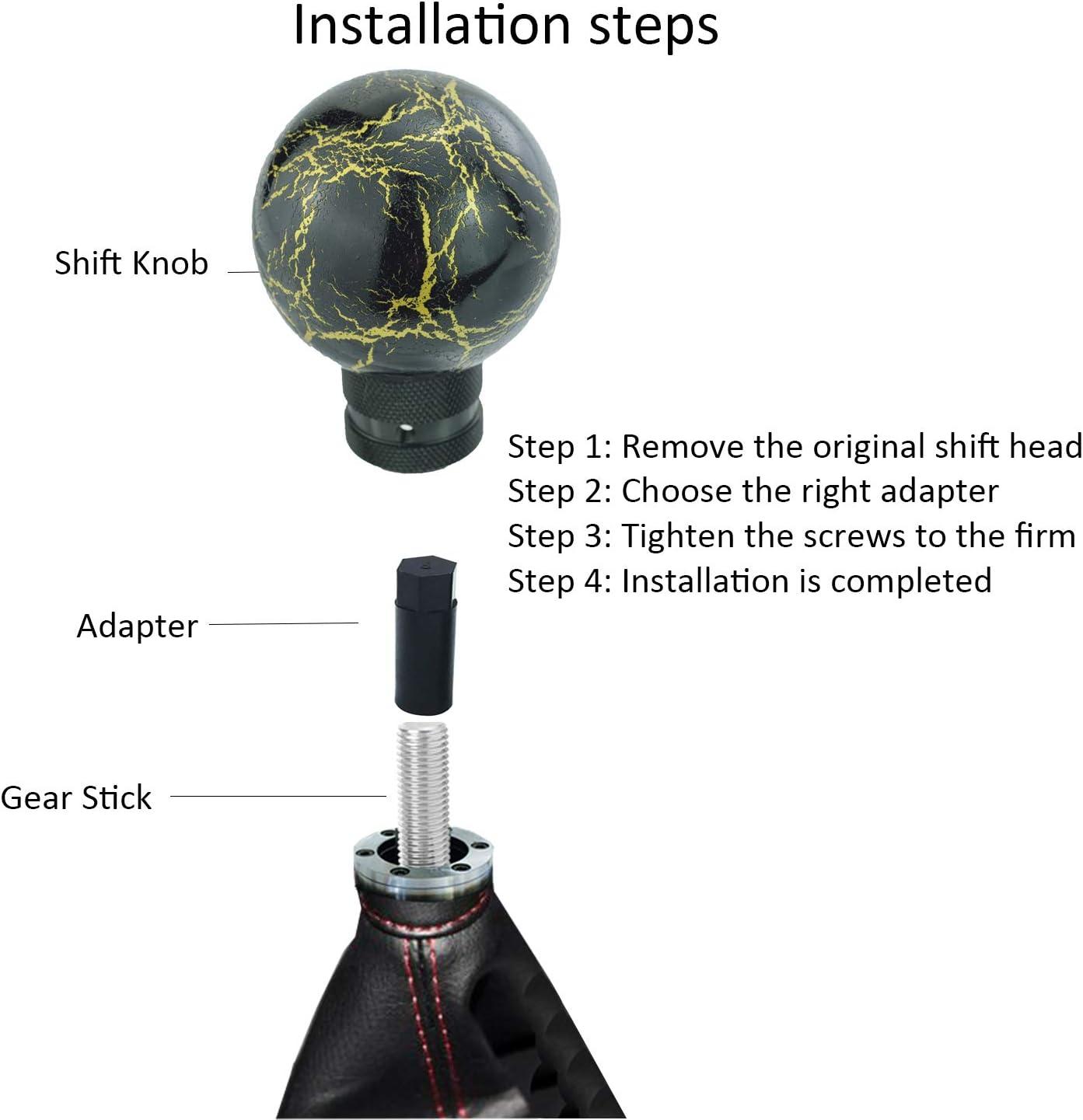 Bashineng Gear Shift knob Spherical Resin Thunder Ball Stick Level ...