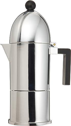 Alessi A9095 6 B La Cupola 6-Cup Silver Aluminum Espresso Maker