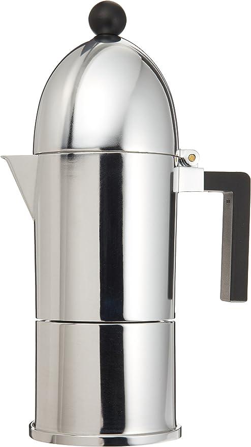 Alessi A9095/6 B La Cupola - Cafetera italiana (6 tazas, con mango negro): Amazon.es: Hogar