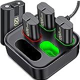ESYWEN - Paquetes de baterías recargables para Xbox One/Xbox Series X, 4 paquetes de baterías de 1200 mAh para Xbox Series X|
