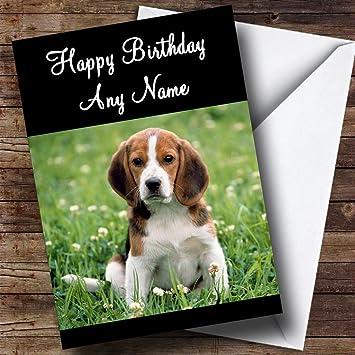 Cachorro Beagle Perro Tarjeta de cumpleaños mamá Papá hijo Hija abuela abuelo Nan