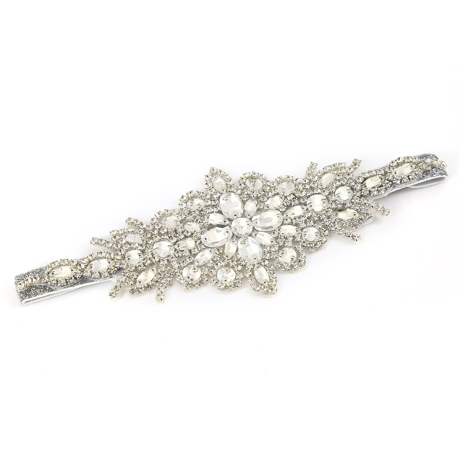 1920s Flapper Headband, Gatsby Headpiece, Wigs Metme Crystal Rhinestone Headband Retro Style Hair Accessories Satin Ribbon for 20s Event Party $17.99 AT vintagedancer.com