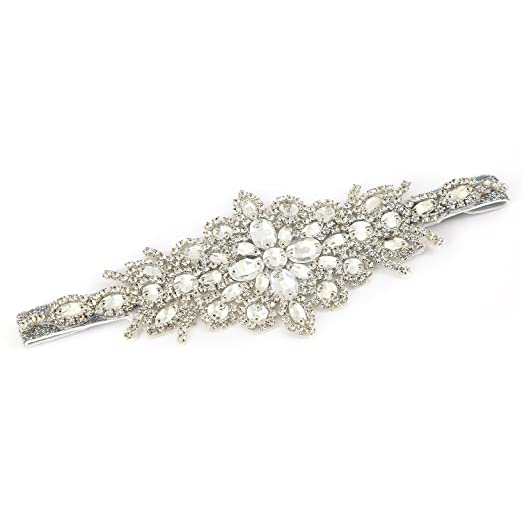 1920s Accessories | Great Gatsby Accessories Guide Metme Crystal Rhinestone Headband Retro Style Hair Accessories Satin Ribbon for 20s Event Party $13.99 AT vintagedancer.com