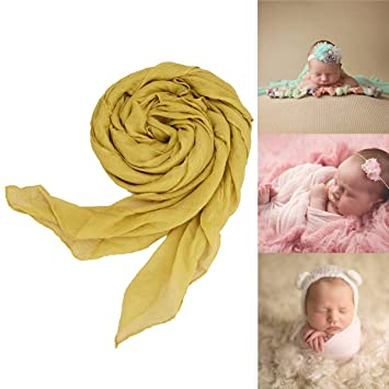 e14dee8c653 Image Unavailable. Image not available for. Color  Newborn Baby Cheesecloth Stretch  Wrap ...