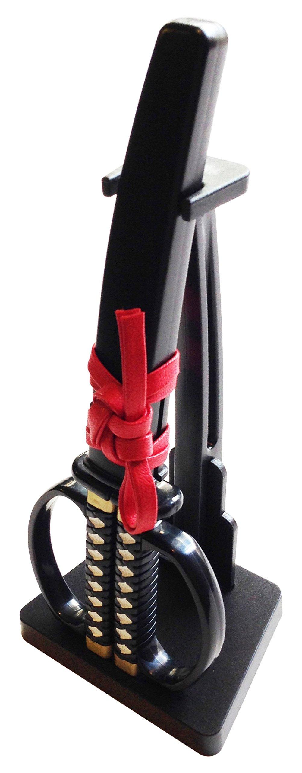 Hanada Home 77-1051 Samurai Sword Scissors with Stand & Case