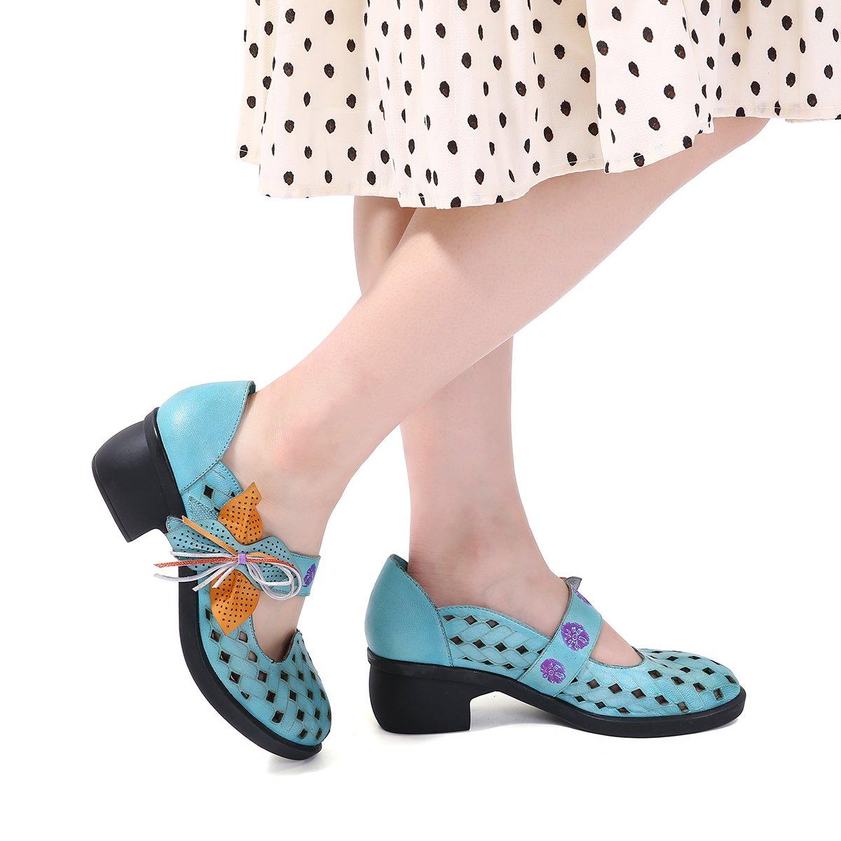 gracosy Merceditas Zapatos Casuales Para Mujer Bombas de Cuero ...