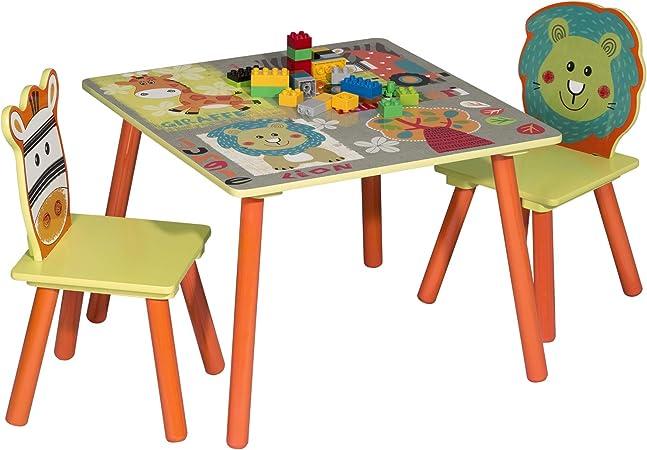 Woltu Sg006 Tavolo E Sedie Per Bambini Gioco Tavolino Con 2 Sgabelli Set Mobili Per Soggiorno In Legno Amazon It Casa E Cucina