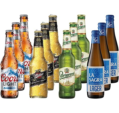Miller Cerveza en Botella 4.7º - Paquete de 24 botellas de 33 ...