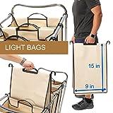 HANKEY Heavy-Duty 4-Bag Rolling Laundry Sorter