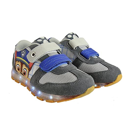 Patrulla Canina - Zapatillas con luces Chase, luces led desactivables, color azul y gris - Paw Patrol light sneakers (25): Amazon.es: Zapatos y complementos