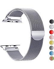 VIKATech Compatible Cinturino per Apple Watch Cinturino 44mm 42mm 40mm 38mm, Cinturino Orologio Bracciale in Acciaio Inossidabile Cinghia Banda Bracciale Milanese per iWatch Series 4/3/2/1