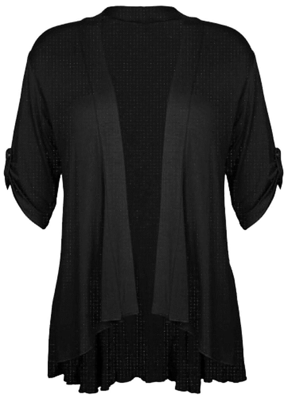 Black kimono jacket plus size