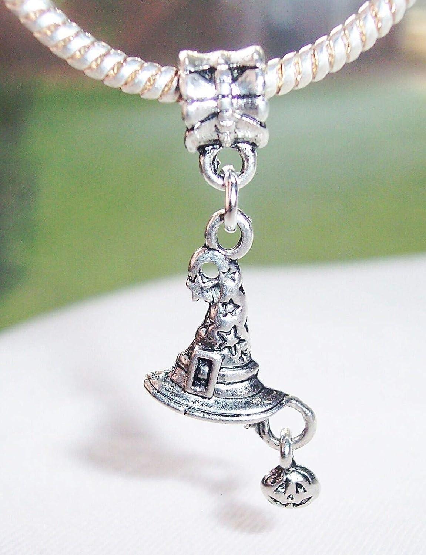 Witchs Hat Jack-O-Lantern Wizard Halloween Dangle Charm for European Bracelets Fashion Jewelry for Women Man