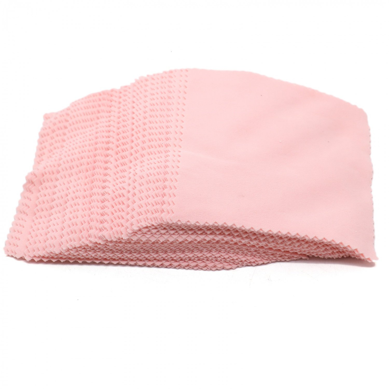 Rugjut 100 PCS Jewelry Cleaning Cloth Polishing Cloth for Silver Gold and Platinum Jewelry (Pink) 4336839410