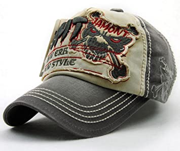 ede2b16d54dee Elwow New Style Men Women s Terrible Tiger Embroidery Distressed Baseball  Cap for Playing Golf