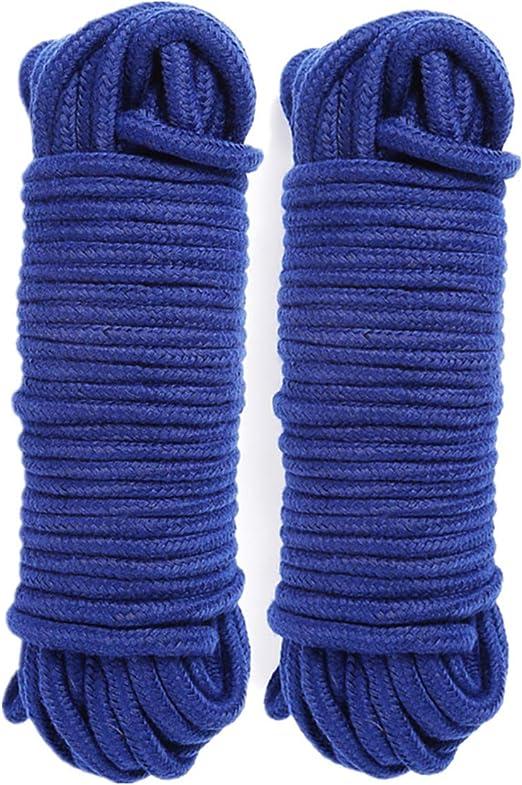 2Paquete 10 M / 33 Pies 8 MM Cuerda multiuso Cordón de cuerda de ...