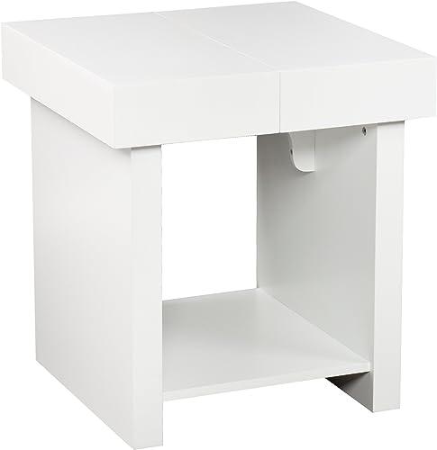 SEI Furniture Holly Martin Glidick Slide-Top End Table