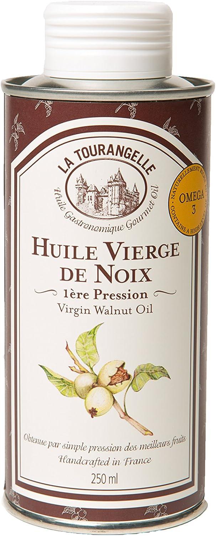 La Tourangelle - Aceite virgen de nueces, 250 ml, lote de 3