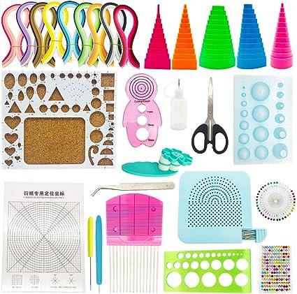 manualidades de papel DIY 29 Pcs Quilling kit 20 Piezas Herramientas de Filigranas de Papel de Tiras con 900 Tiras de Papel de 40 colores de 5x390mm para arte quilling