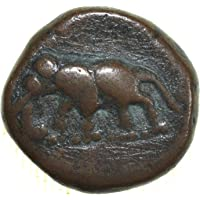 Copper Kasu of Maysore Numerical Series with Elephant Left