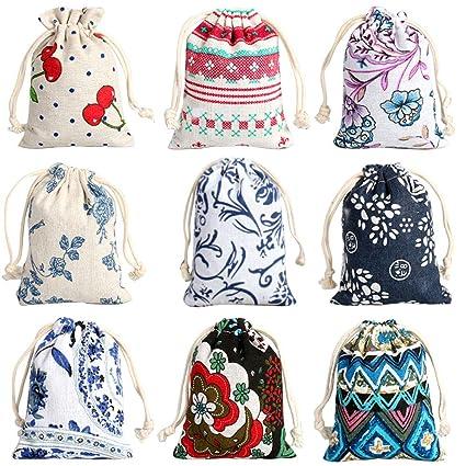 Amazon.com: CORCIO 18 bolsas de arpillera con cordón, bolsa ...