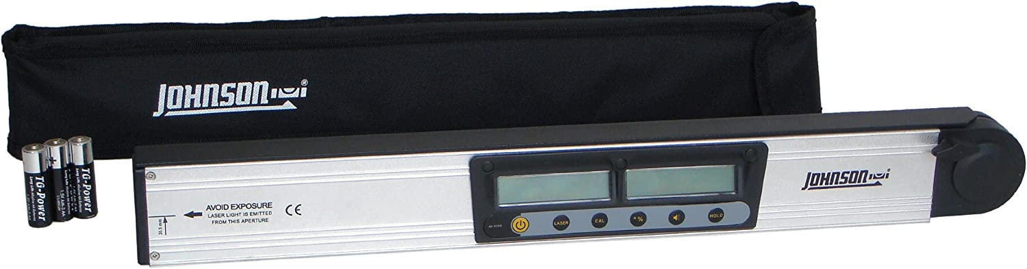 Johnson Level and Tool 40-6065 Digital Angle Finder Laser Level with Rotating Display