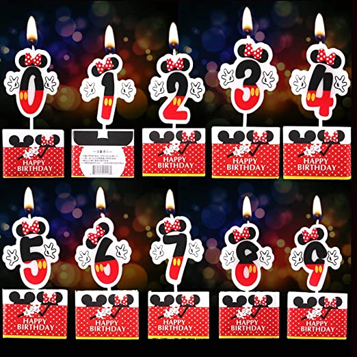 BakingMon Minnie Mickey Mouse - Velas para cumpleaños ...